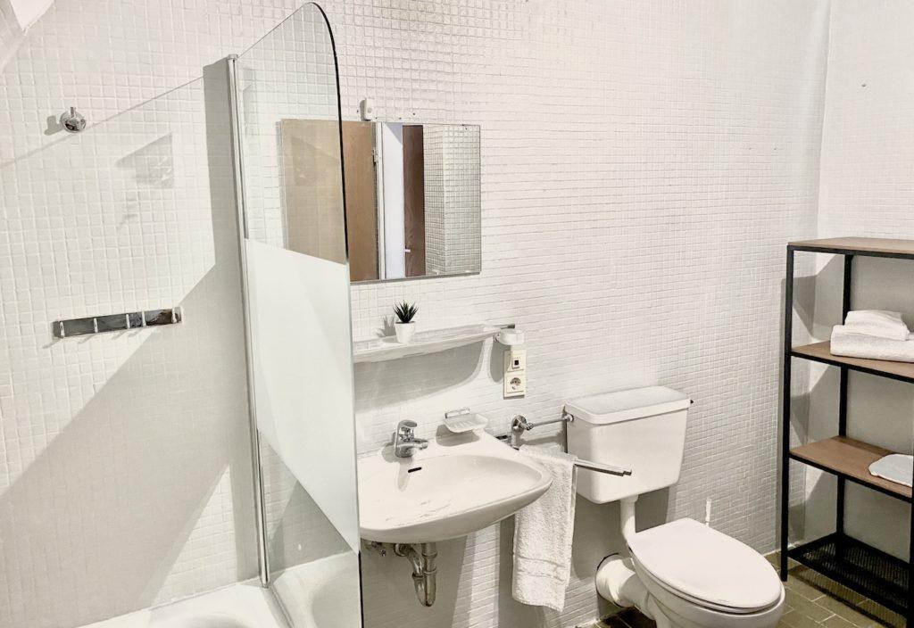 Ferienwohnung am Schliersee Badezimmer